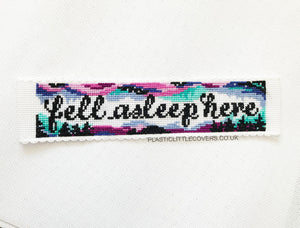 Fell Asleep Here - Bookmark Cross Stitch Pattern PDF.
