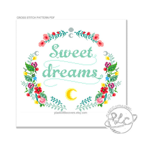Sweet Dreams - Cross Stitch Pattern PDF.