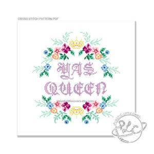 Yas Queen - Cross Stitch Pattern PDF.