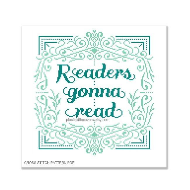 Readers Gonna Read - Cross Stitch Pattern PDF.