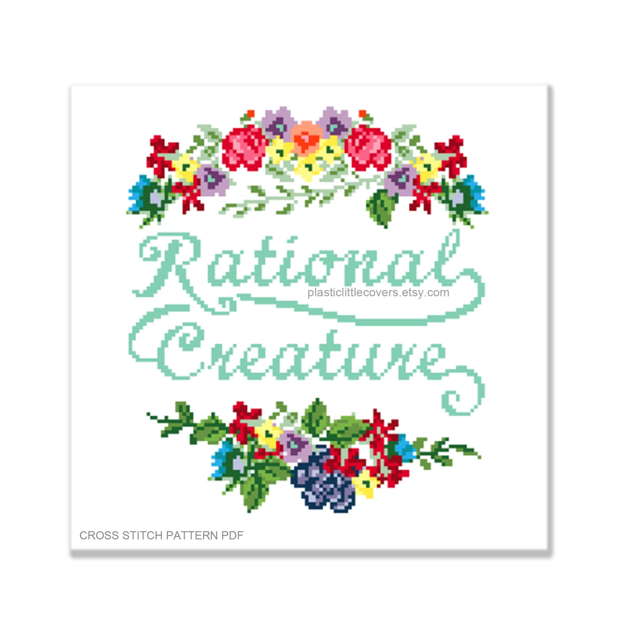 Rational Creature - Cross Stitch Pattern PDF.