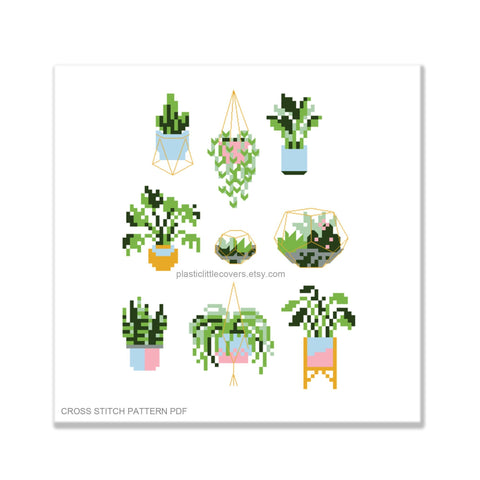 Plant Pals - Cross Stitch Pattern PDF.