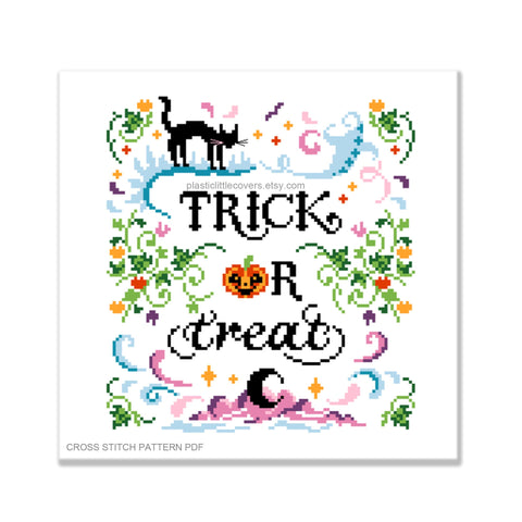 Trick or Treat - Cross Stitch Pattern PDF.