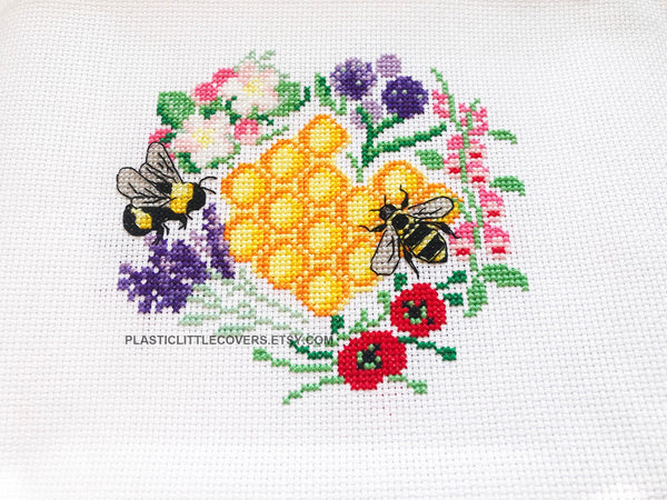 Cross Stitch Kit - Bees and Blooms