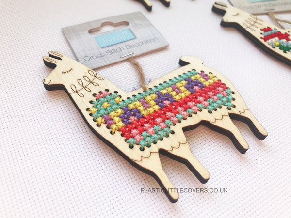 Llama Cross Stitch Decoration
