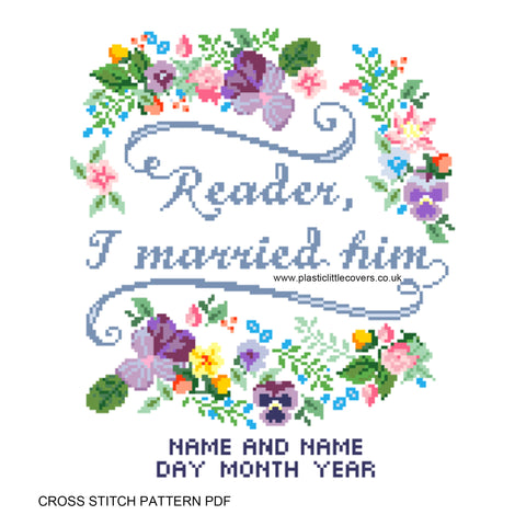 Reader, I Married Him - Cross Stitch Pattern PDF.