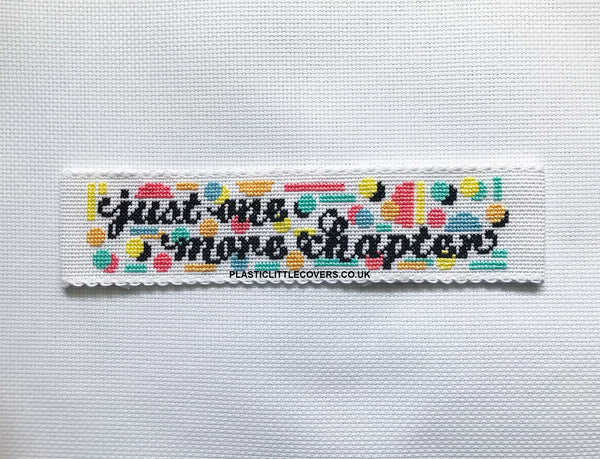 Just One More Chapter - Bookmark Cross Stitch Pattern PDF.