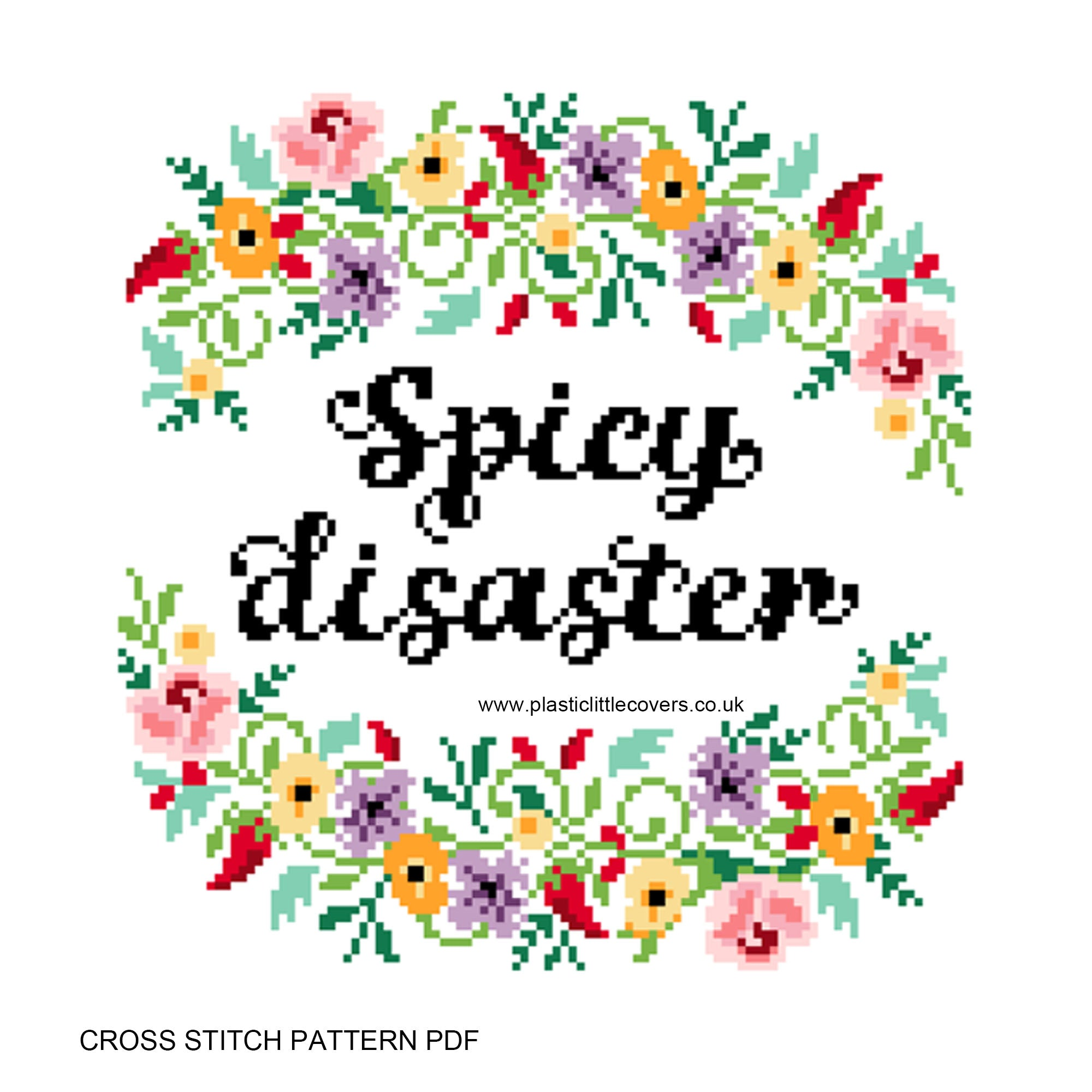 Spicy Disaster - Cross Stitch Pattern PDF.