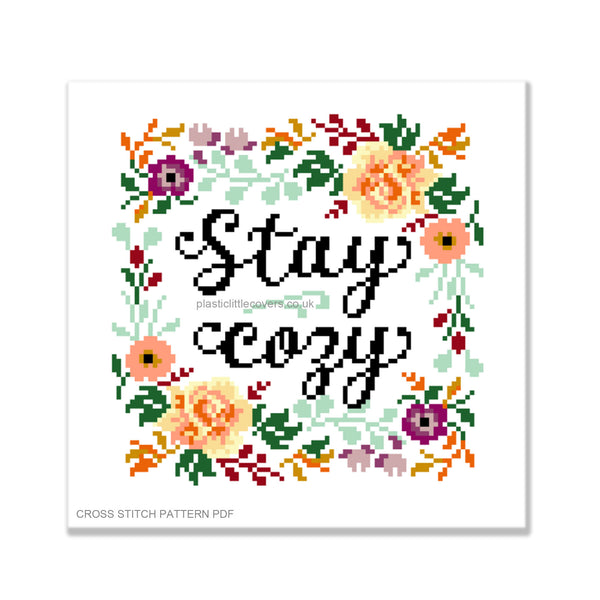 Stay Cosy - Cross Stitch Pattern PDF.