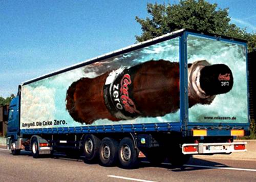 19 Creative 3D Truck Advertising