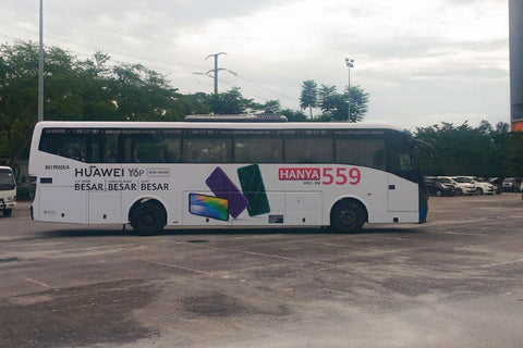 Cyberjaya bus ads , putrajaya bus ads , kl bus ads , malaysia bus ads , huawei , transit advertising , bus advertising , malaysia bus ads