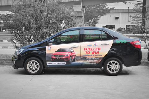 grabads, grab car advertising , car advertising, car wrapping, transit advertising