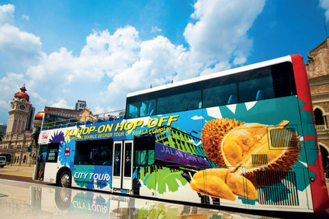 KL hop on hop off, outdoor advertising, transit advertising, tourist attraction, mobile ads marketing, bus advertising , KL bus advertising