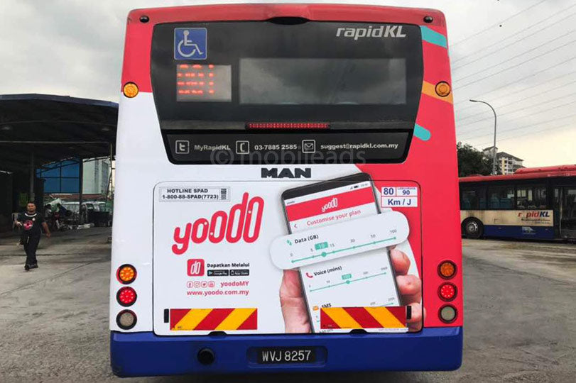 rapid kl, single decker, bus advertising, transit advertising, outdoor advertising, mobile ads marketing, yoodo, advertising agency