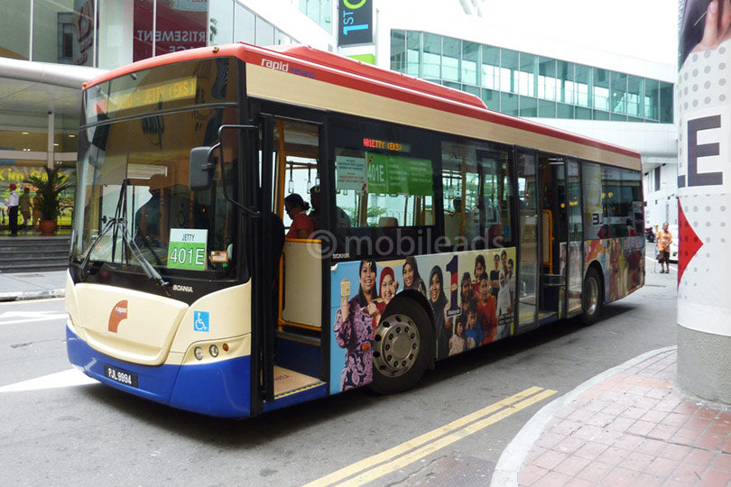rapid penang, bus advertising, transit advertising, outdoor advertising, mobile ads marketing, 1 malaysia, advertising agency