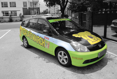 Car Advertising wrapping, event car wrapping, car advertising , grabads, sticker printing, sticker installation, transit advertising, pj sticker printer , pj printing house , malaysia inkjet printing
