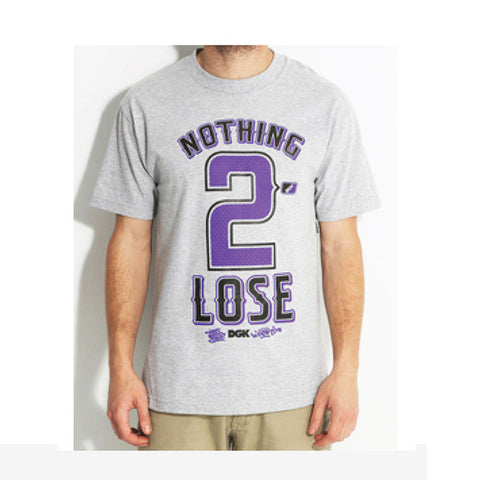 T-SHIRTS DGK NOTHING 2 LOSE GREY - S