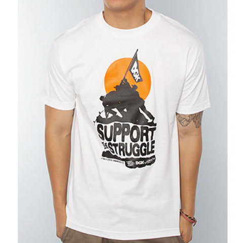 T-SHIRTS DGK SUPPORT THE STRUGGLE WHITE