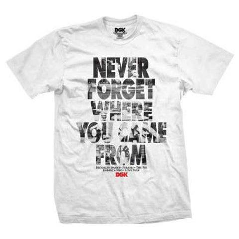 T-SHIRTS DGK NEVER FORGET WHITE - S