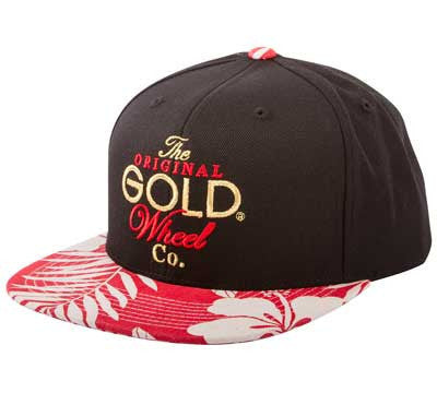 CAP GOLD ORIGINAL STACK SNAPBACK BLACK/RED FLORAL