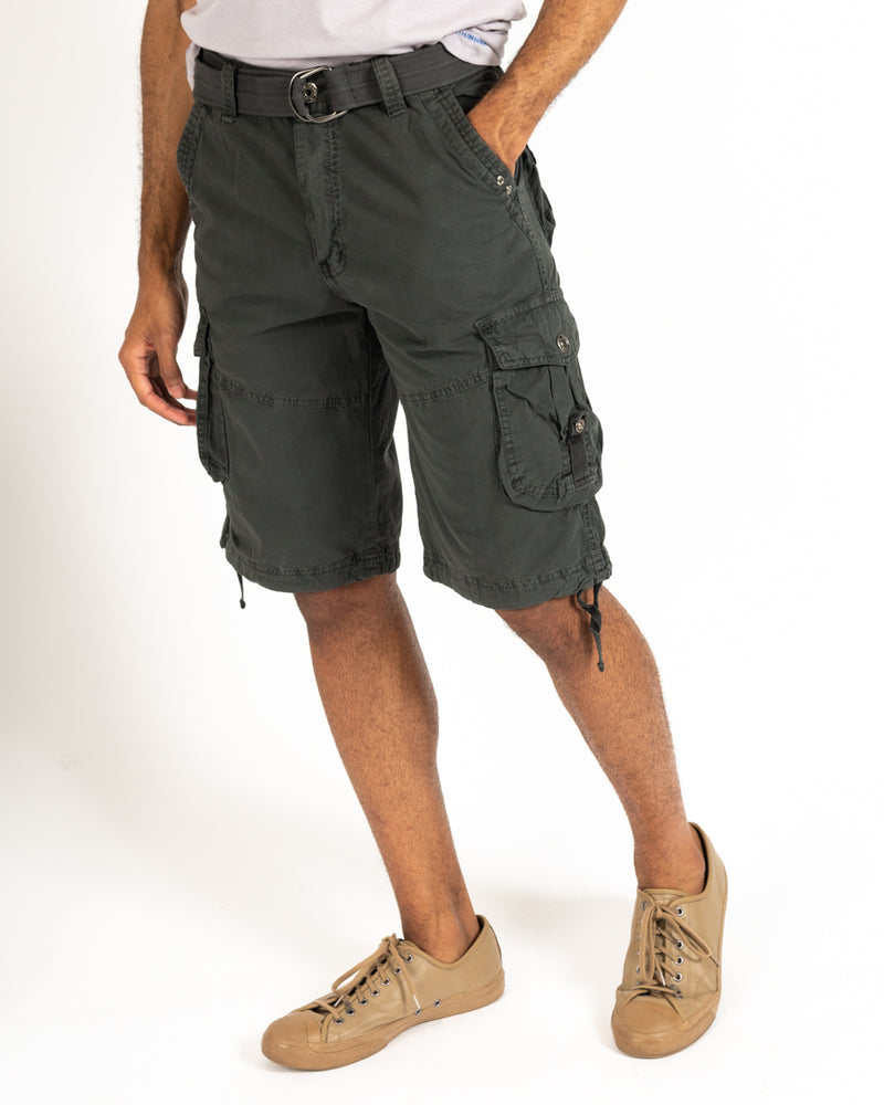 Charcoal Belted Cargo Short