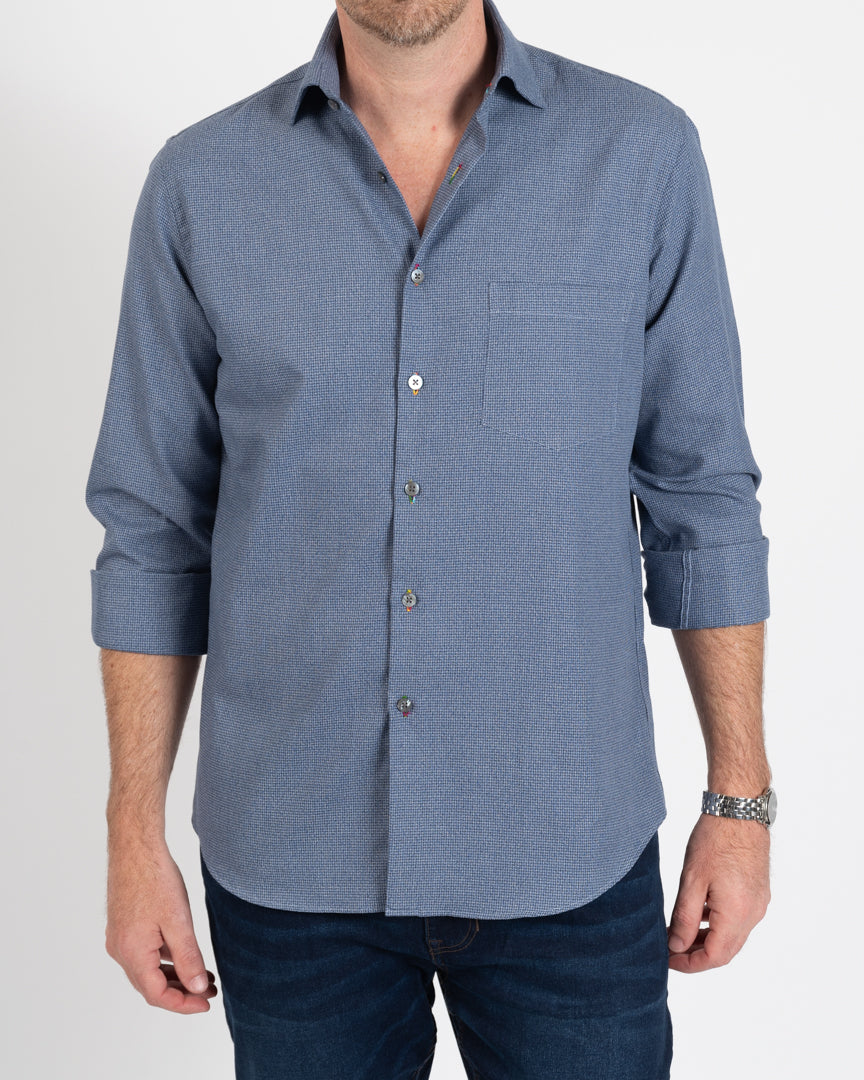 Grey/Navy Houndstooth Shirt