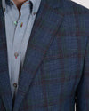 Navy, Purple and Green Plaid Sportcoat