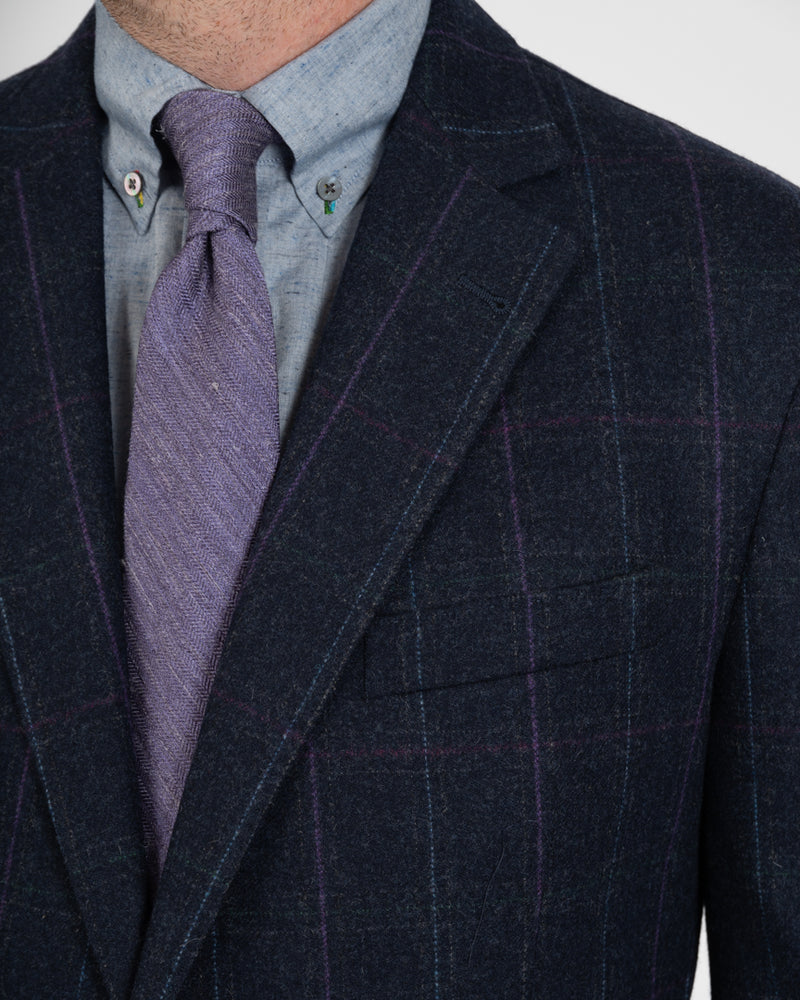 Dark Navy Tattersall Lambswool Sportcoat