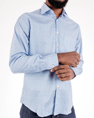 Plaid Evolve Men's Long Sleeve Print Shirt