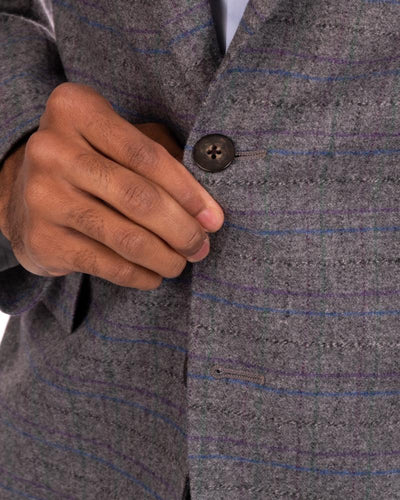 Jewel Tone Twist Ash Sport Coat Buttons