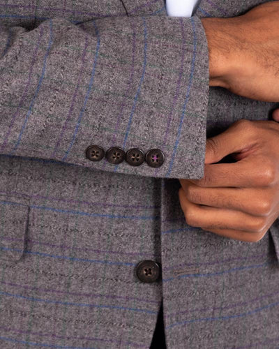 Jewel Tone Twist Ash Sport Coat Sleeve