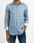 Heather Plaid Jet Print Linen Shirt