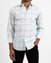 SpaceDyed Plaid Windowpane Shirt