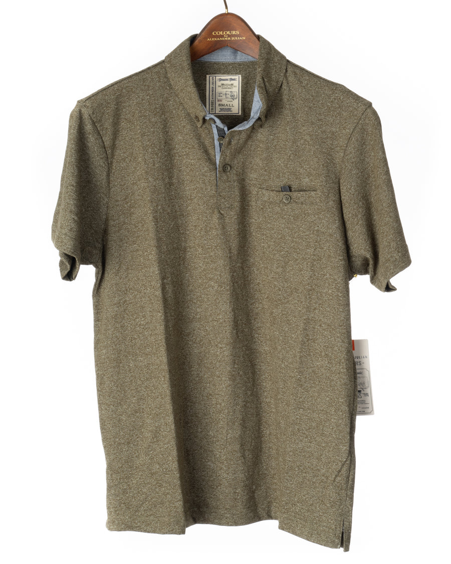 Short Sleeve Grindle Jersey Polo Army Green