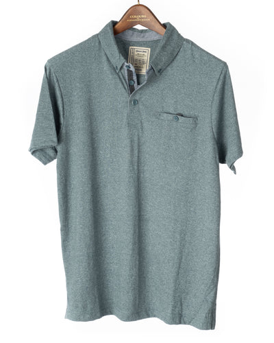 Alexander Julian Short Sleeve Grindle Jersey Polo Shirt Ocean Blue