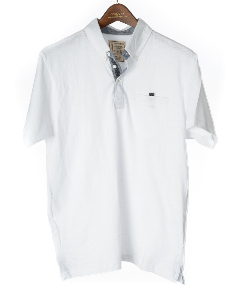 Grindle Jersey White Polo Shirt
