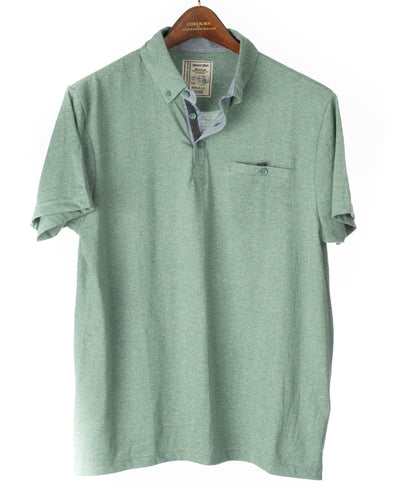 Alexander Julian Short Sleeve Grindle Jersey Polo Jade