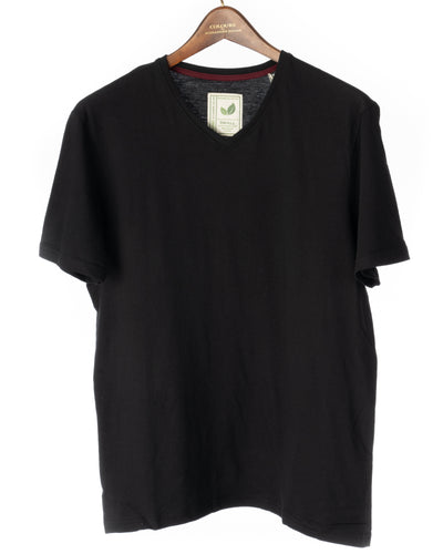 Short Sleeve Organic Cotton T Shirt Black