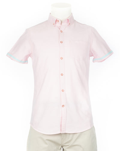 Pink Organic Cotton Sleeve Shirt