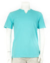 Turquoise Notch Neck Short Sleeve Tee
