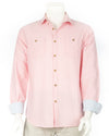 Muted Peach Long Sleeve Oxford Shirt