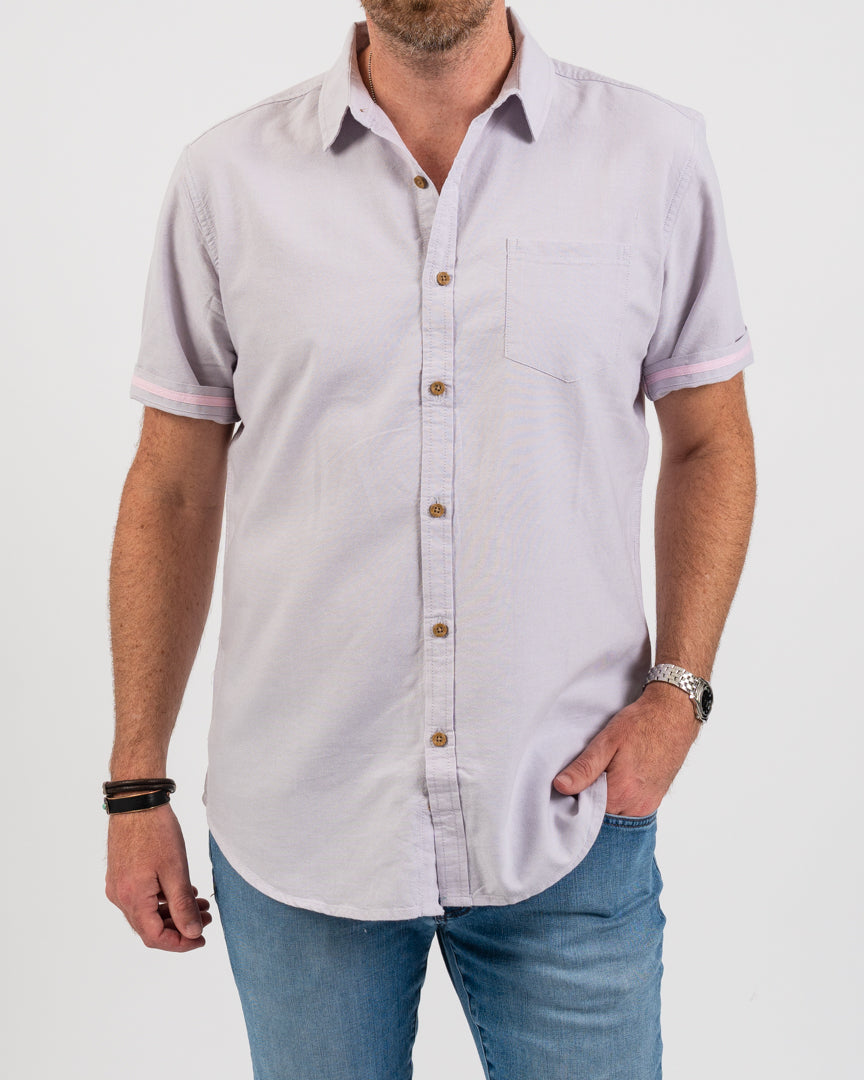 Wisteria Organic Pocket Oxford Shirt