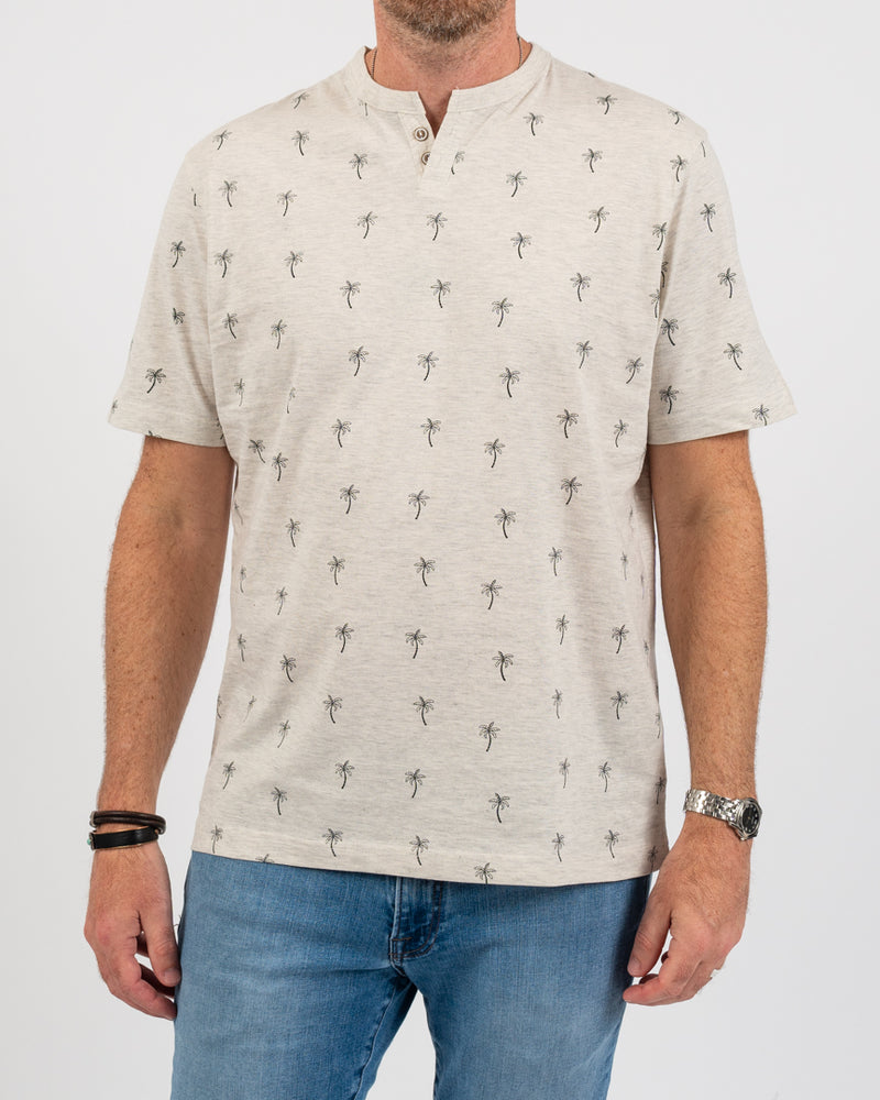 Palm Trees 2 Button Tee