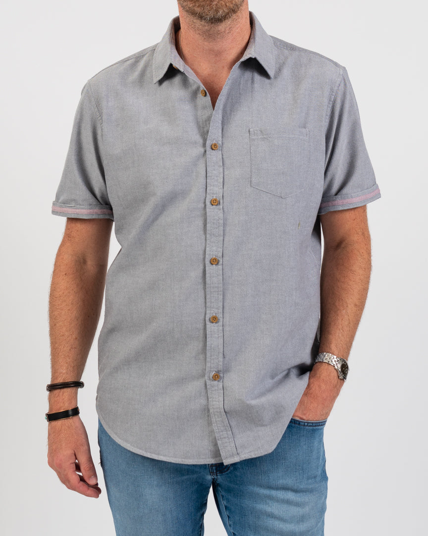 Slate Organic Pocket Oxford Shirt