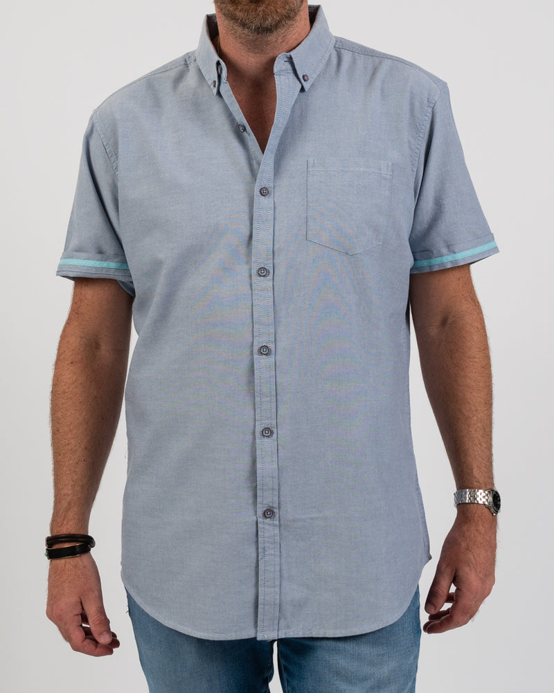 Blue Grotto Organic Oxford Shirt