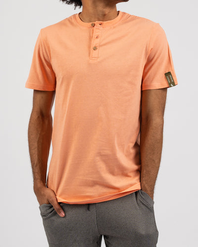 Fresh Peach Organic Cotton Henley