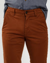 Chestnut Stretch Sateen Slim-Fit Chino