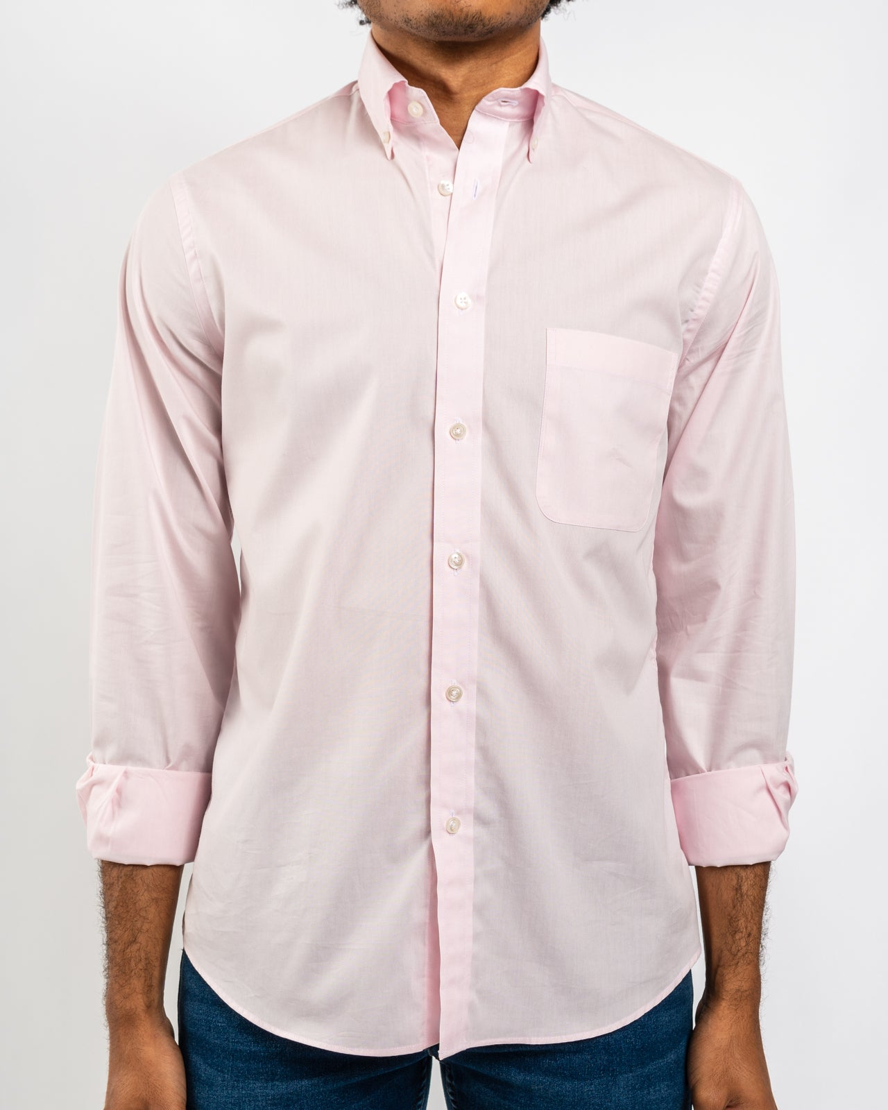 Pink Organic Cotton Poplin Shirt