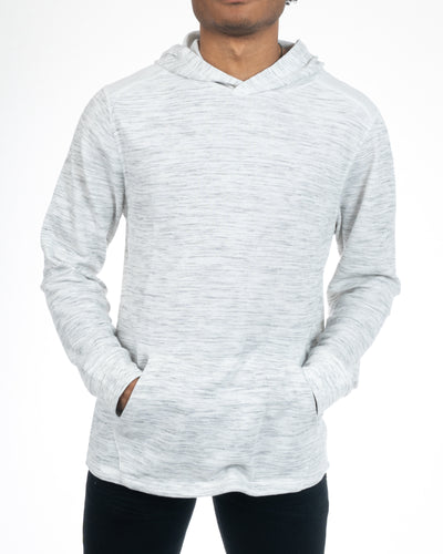 Men's White Pullover Hoodie Front