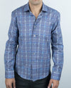Alexander Julian Men's Tartan Button Up Long Sleeve Shirt